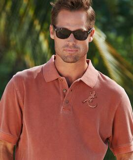 Short-Sleeve Petro Lizard Chile Pique' Polo Shirt