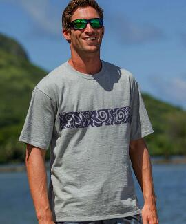 Short-Sleeve Koa Band Light Gray Heather Crew