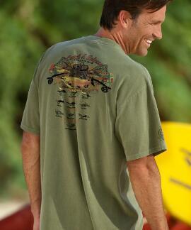 Short-Sleeve Hook Line And Sinker Hemp Crew T-shirt