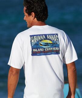Short-Sleeve Havana Anna White Crew