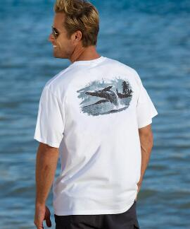 Short-Sleeve Whale Jump White Crew