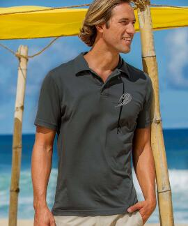 Short-Sleeve Kai Nui Boards Smoke Pima Polo