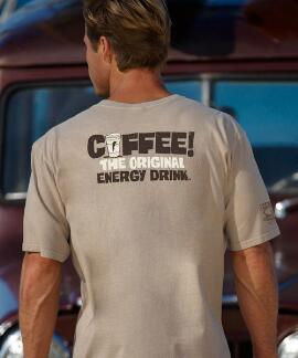 Short-Sleeve Coffee Energy Drink Kona Coffee Crew T-shirt