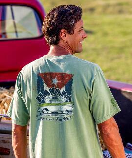 Short-Sleeve Havana Parts And Sales Money Crew T-shirt