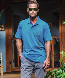 Short-Sleeve Kai Nui Thunda Pacific Pima Polo