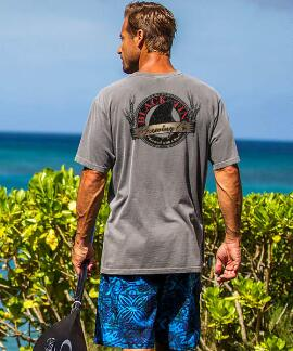 Short-Sleeve Black Fin Crater Crew T-shirt