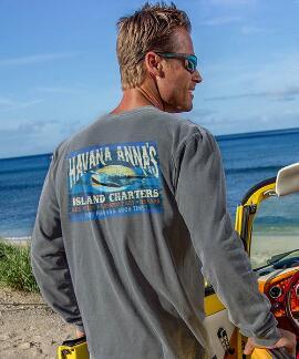 Long-Sleeve Havana Anna Crater Classic Crew