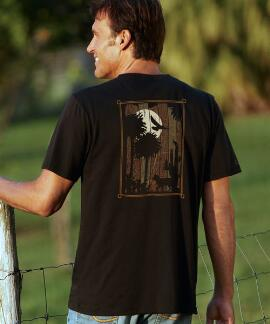Short-Sleeve Desert Glow Jet Black Pima Shirt
