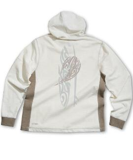 Long-Sleeve Kai Nui Boards Natural/Gray Longboard Hooded T