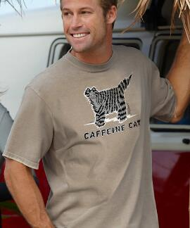 Short-Sleeve Caffeine Cat Kona Coffee Crew T-shirt